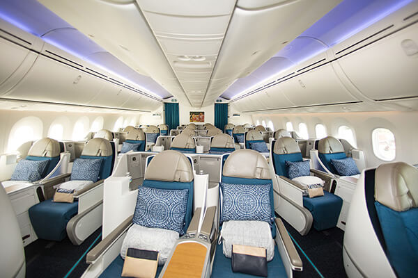 Air Tahiti Nui Tahitian Dreamliner Poerava Business Class