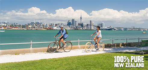 New Zealand Image - Cycling in Auckland tahiti flight deals New Zealand and Tahiti Flight Deals June AKL EX8641