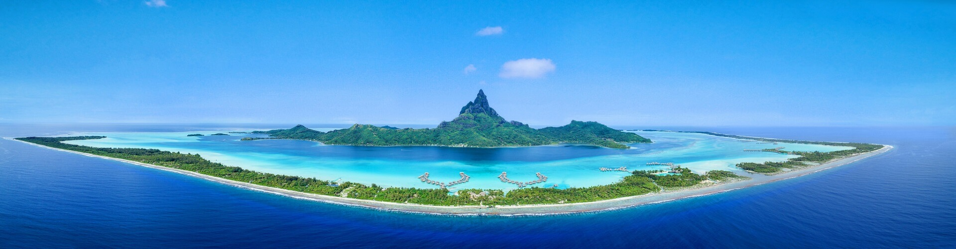 Photo aérienne de Bora Bora