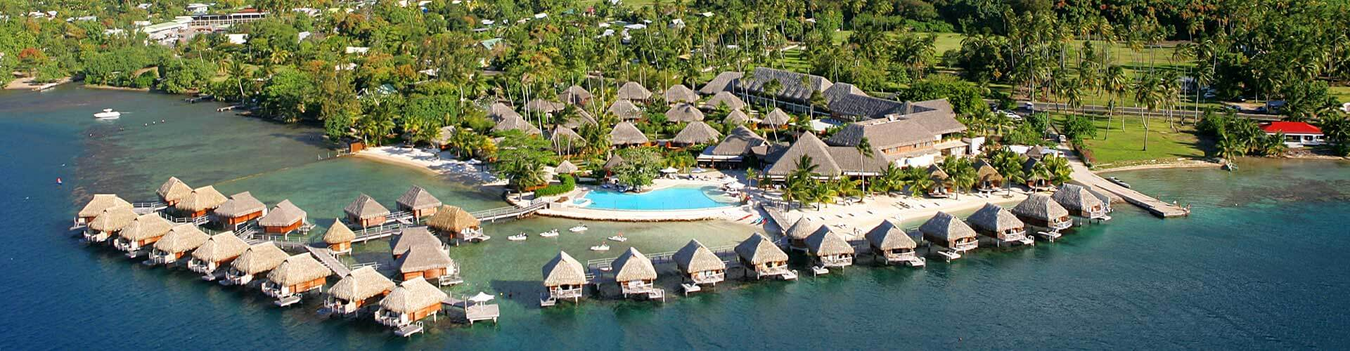 Aerial view of Manava Beach Resort Moorea
