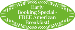 Early Booking Special - Free American Breakfast