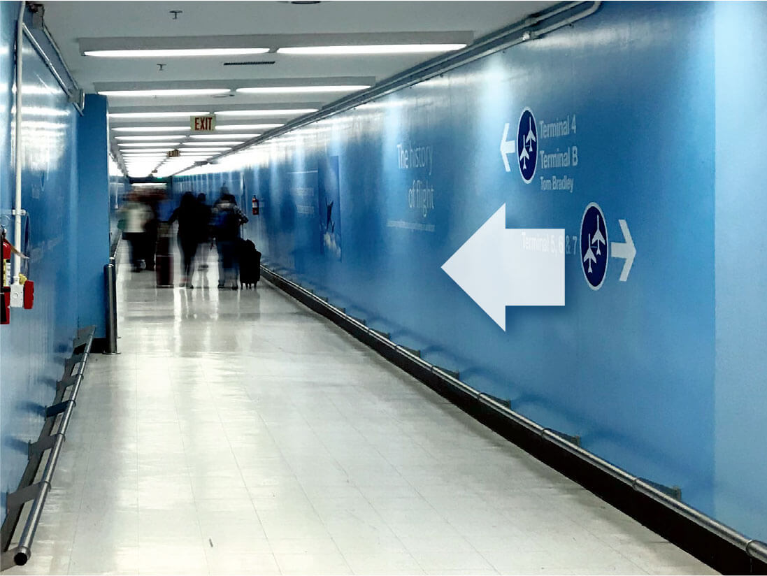 Light Blue Passage Tunnel at LAX