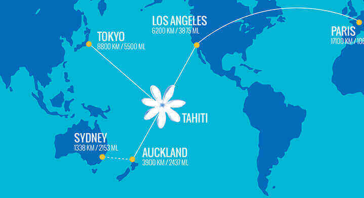 Tahiti On A Map Route Map | Air Tahiti Nui Tahiti On A Map