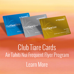 Club Tiare frequent flyer program and cards