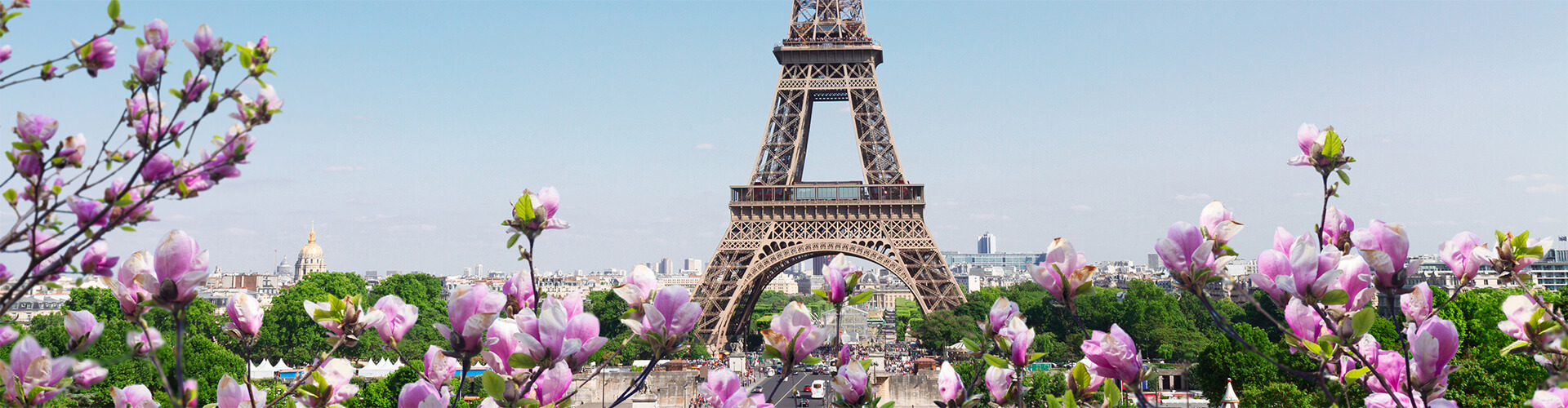 Paris in spring with the Eiffel Tower