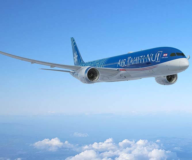air to air of tahitian dreamliner