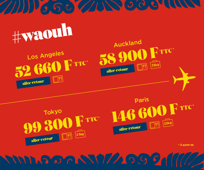 affiche publicitaire promotion air tahiti nui