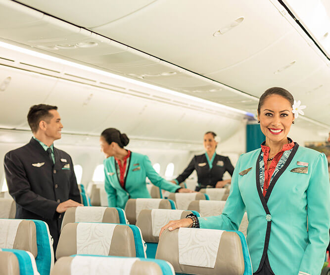 flight crew smiling