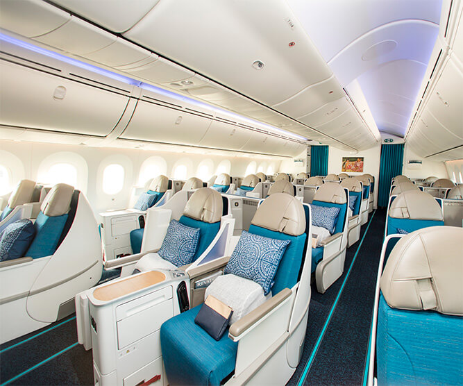 Tahitian Dreamliner Business Class Interior