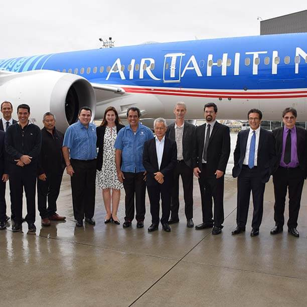 reception tahitian dreamliner air tahiti nui