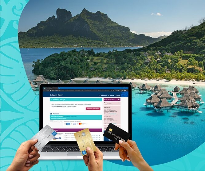 split payment with plutiple credit cards with air tahiti nui