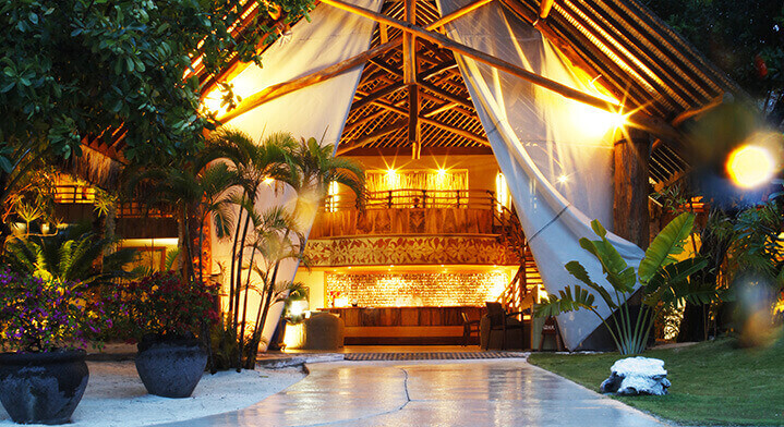 Photo of a bungalow in the islands of Tahiti