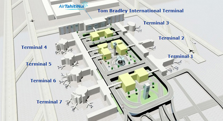 Map of LAX International airport