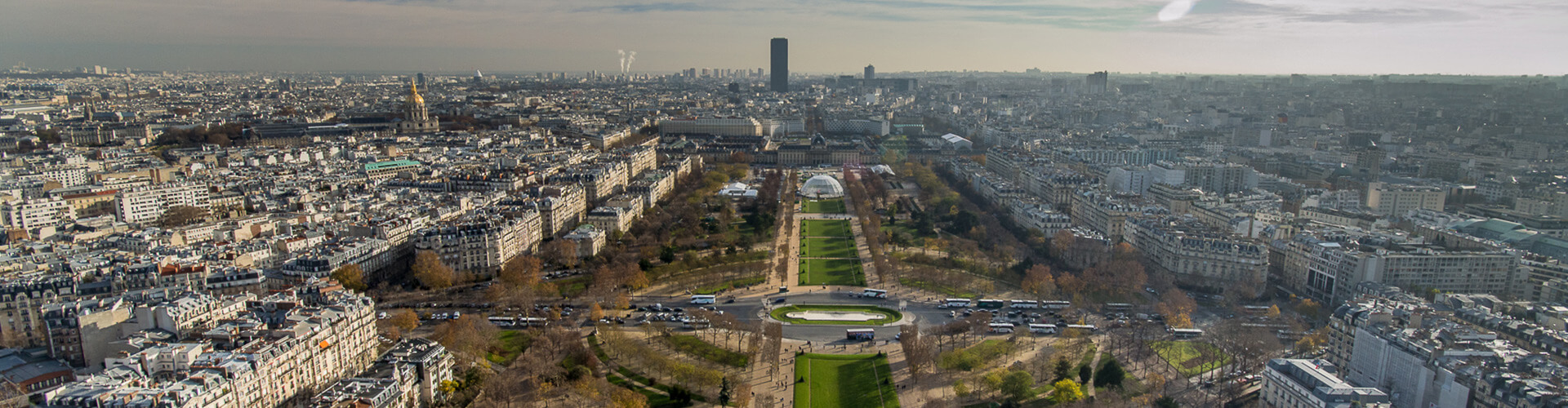 aaeral view of the city of paris