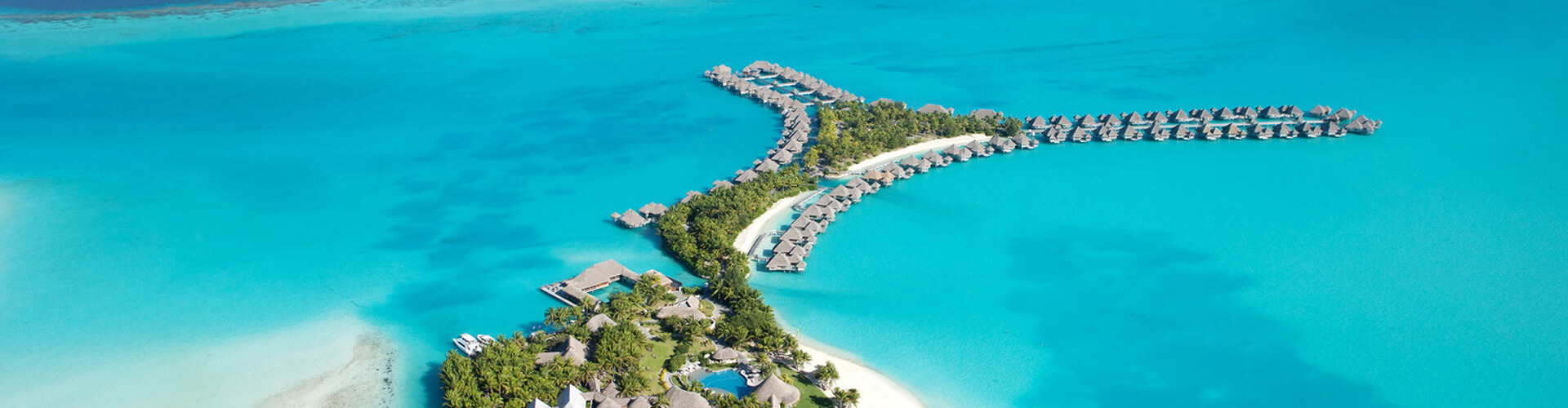 aeral overview of the hotel saint regis bora bora