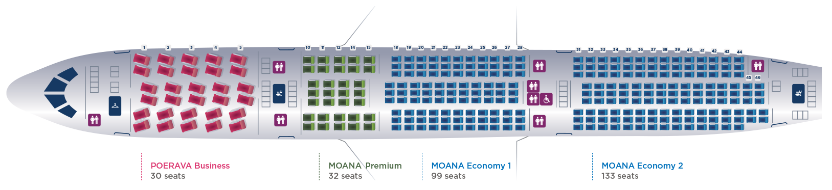 Tahitian Dreamliner Seating Map
