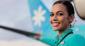 Flight attendant with aircraft