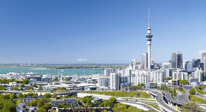 aerial auckland view