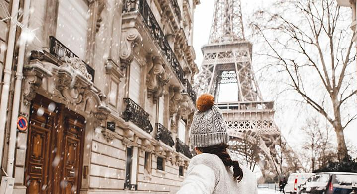 Eiffel Tower in Paris in Winter