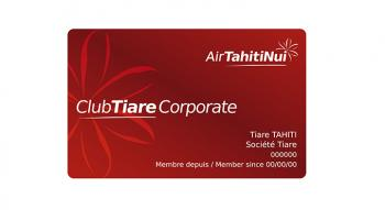 carte de fidélité corporate club tiare