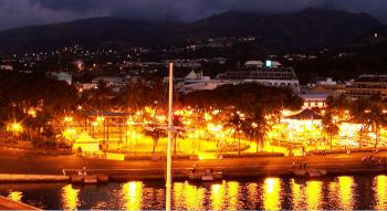 view of the place vaiete by night at Papeete