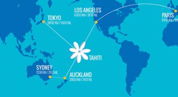 Route map of the air tahiti nui network