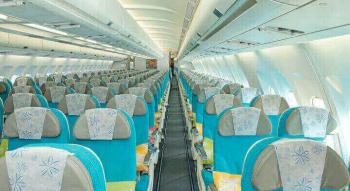 view of the seats of the Air Tahiti Nui moana economy class