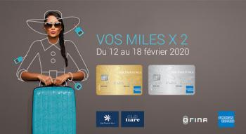 Illustration: Doublez vos miles Air Tahiti Nui American Express