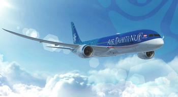 air tahiti nui boeing 787 9 flying over cloud