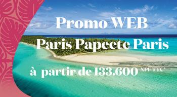 Illustration: Promo WEB au départ de Paris et à destination de Tahiti