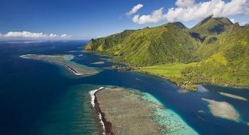 aerial view of tahiti