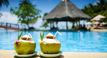 Poolside, on your secluded Tahiti honeymoon, by Travel Nation