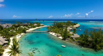 Aerial view of Intercontinental Resort & Spa Moorea