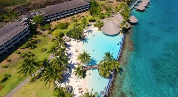 Aerial view of Intercontinental Tahiti Resort & Spa