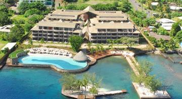 Aerial view of Manava Suite Resort