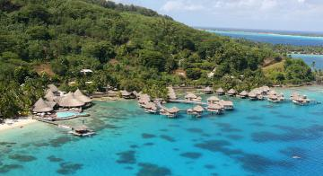 Aerial view of Sofitel Bora Bora Marara Beach Resort