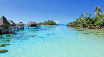 Beach view at Sofitel Bora Bora Private Island