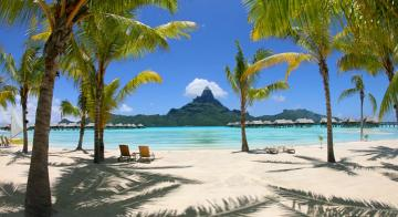 Beach view at Intercontinental Bora Bora Resort & Thalasso Spa