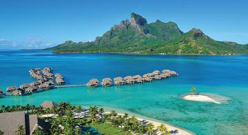 Aerial view of Four Seasons Resort Bora Bora