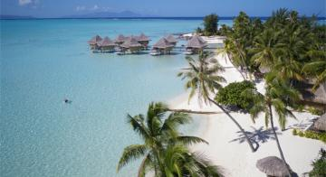 Viewpoint of Intercontinental Le Moana Bora Bora