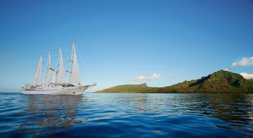 Wind Spirit sailing in Tahiti