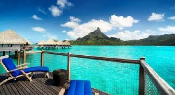 View of Mt. Otemanu from Le Meridien Bora Bora