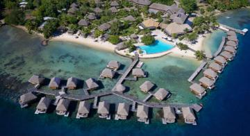 Aerial view of Manava Beach Moorea