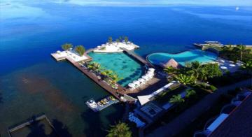 Aerial view of Manava Suite Tahiti