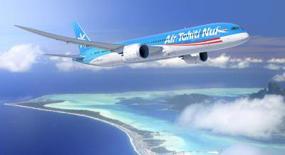 Air Tahiti Nui colors on a boeing aircraft