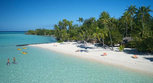 Beach view at Bora Bora Pearl Resort & Spa