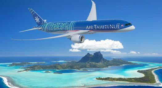 air tahiti nui above bora bora