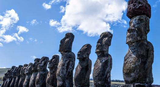 Photos of Easter island Moai
