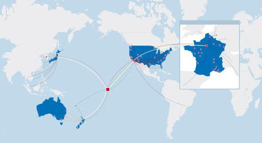 Air Tahiti Nui World Map