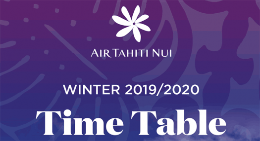 Air Tahiti Nui - Time Table Winter 2019-2020